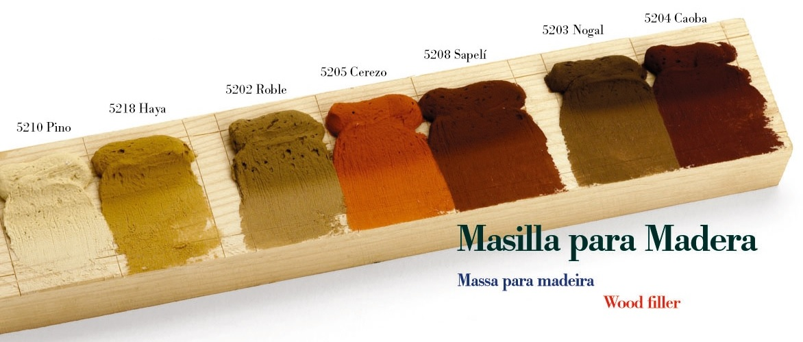 Masilla Especial Para Madera Con Fibra De Vidrio Blanco Y Colores